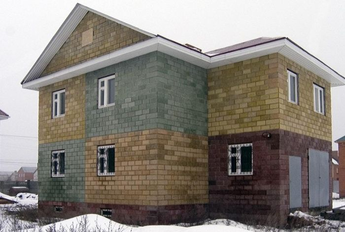 пример дома из теплоблоков