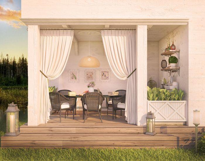 дизайн террасы в стиле прованс