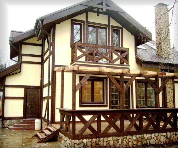закрытая терраса в современном доме