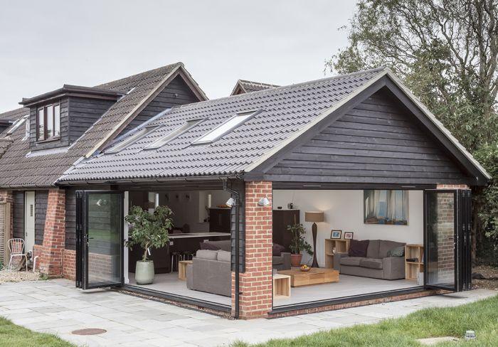 терраса с общей с домом крышей