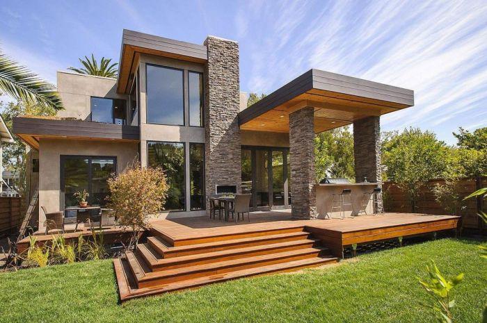 терраса для современного частного дома