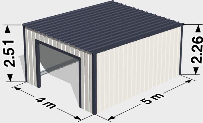 маленький гараж из готовых панелей