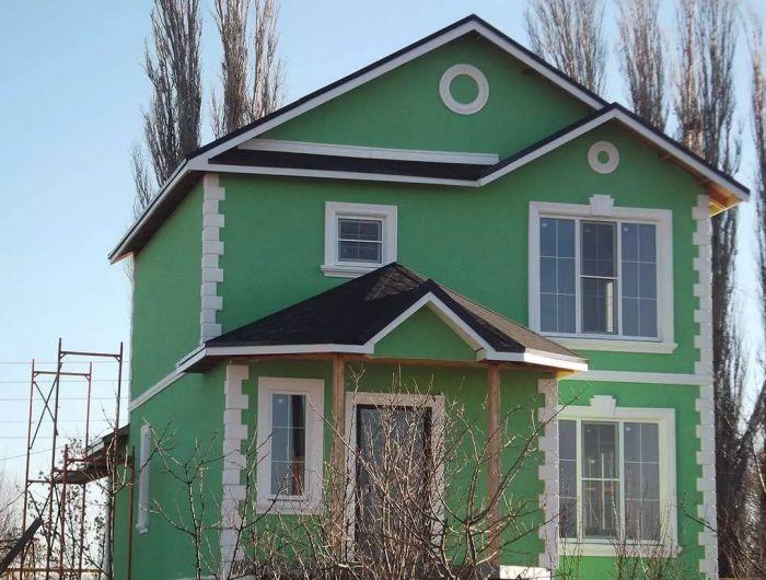 короед зеленый фасад дома