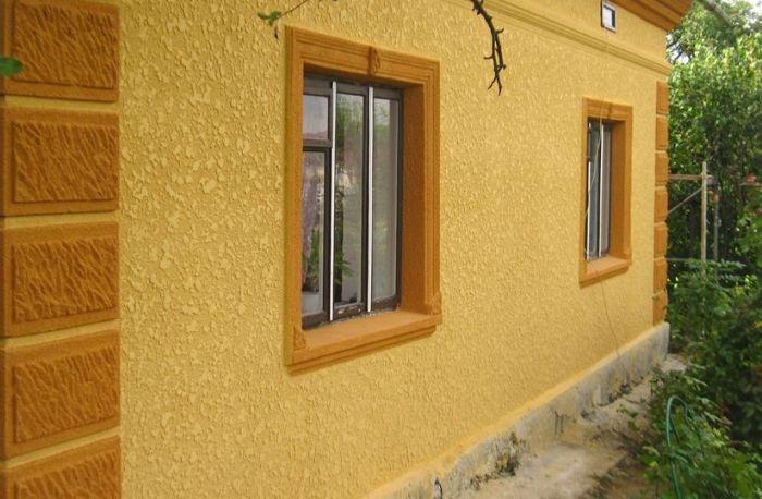 силиконовый короед на фасаде