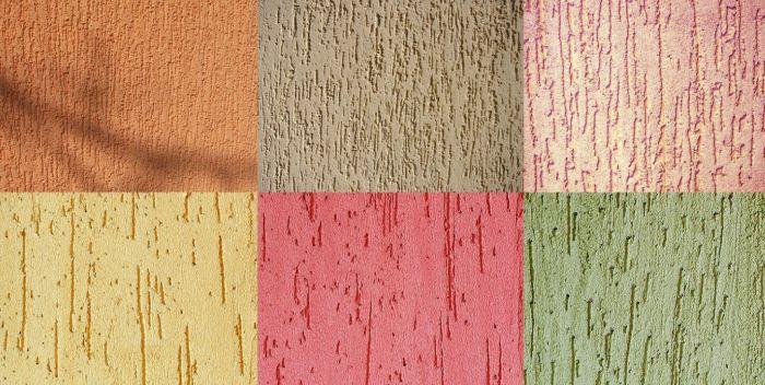 цветовая гамма фактурной шкукатурки